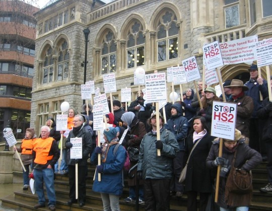 HS2, Ealing Demonstration, 2013
